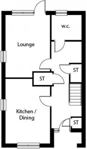 The Loxley - Ground floor plan